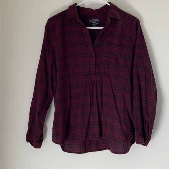 Abercrombie & Fitch Tops - Plaid Partial Button Up Shirt